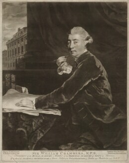Sir William Chambers, by Valentine Green, after  Sir Joshua Reynolds, 1780 - NPG D32831 - © National Portrait Gallery, London
