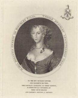 Mary Staveley (née Onebye), published by John Nichols - NPG D30397