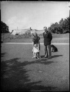 Anthony Ashley-Cooper, 10th Earl of Shaftesbury; Françoise (née Soulier), Lady Ashley; Anthony Ashley-Cooper, Lord Ashley, by Bassano Ltd, 7 July 1939 - NPG x154107 - © National Portrait Gallery, London