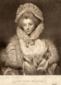 Lavinia Spencer (née Bingham), Countess Spencer, by Charles Howard Hodges, after  Sir Joshua Reynolds - NPG D9189