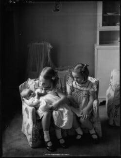 Catherine Raczynska; Wanda Dembinska (née Raczynska); Wiridiana (née Raczynska), Countess Rey, by Bassano Ltd, 19 July 1939 - NPG x154120 - © National Portrait Gallery, London
