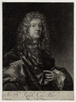 Sir Ralph Cole, by Francis Place, after  Sir Peter Lely - NPG D30421