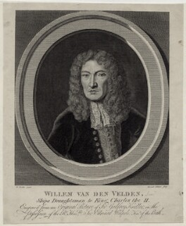 William van de Velde the Elder, by G. Sibelius, after  Sir Godfrey Kneller, Bt - NPG D30422