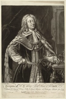 King George II, by Alexander van Aken, published by  Thomas Jefferys, and published by  William Herbert, after  Sandie - NPG D32861