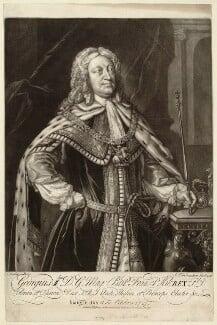 King George II, by Alexander van Aken, published by  Thomas Jefferys, and published by  William Herbert, after  Sandie - NPG D32861