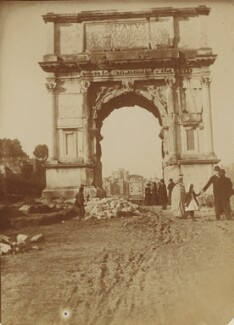'Arch of Titus', by Mary Elizabeth Madox Rossetti - NPG P1273(35c)