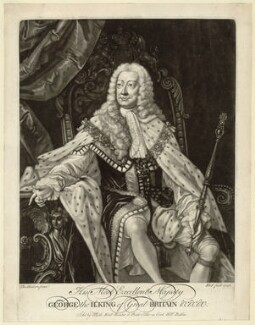 King George II, by and published by Michael Ford, after  Thomas Hudson - NPG D32863