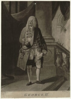 King George II, by William Dickinson, after  Robert Edge Pine - NPG D32864