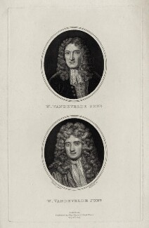 William van de Velde the Elder and William van de Velde the Younger, by William Bond, after  Sir Godfrey Kneller, Bt - NPG D30425