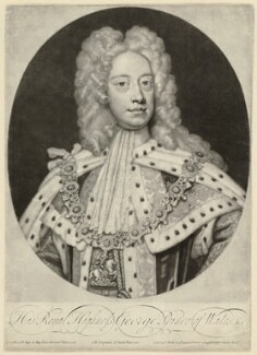 King George II, by and published by John Smith, after  Sir Godfrey Kneller, Bt, 1717 (1716) - NPG D32866 - © National Portrait Gallery, London