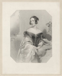 Harriet Charlotte Beaujolois (née Campbell), Countess of Charleville, by Edward Francis Finden, after  John Hayter - NPG D32873