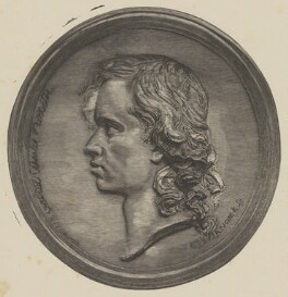 Dante Gabriel Rossetti, by Paul Jonnard, after  John Hancock - NPG P1273(56)