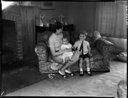 Patricia Erskine (née Norbury); Niall Stuart Erskine; Duncan FitzGerald Erskine, by Bassano Ltd - NPG x154148
