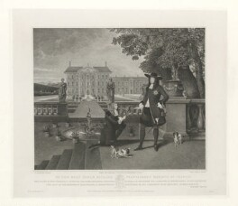 King Charless II & John Rose, by Robert Grave, after  Silvester (Sylvester) Harding - NPG D30478