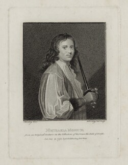 Michael Mohun, by Edward Harding, after  Silvester Harding - NPG D30479