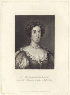 Sarah Seymour (née Alston), Duchess of Somerset, by Burnet Reading, published by  Thomas Rodd the Younger, published by  Horatio Rodd, after  George Vertue - NPG D30482