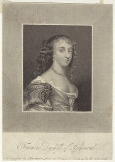 Frances Teresa Stuart, Duchess of Richmond and Lennox, by James Thomson (Thompson), after  Sir Peter Lely - NPG D30485