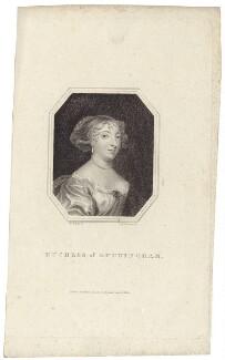 Mary Villiers (née Fairfax), Duchess of Buckingham, by Edward Scriven, possibly after  Sir Peter Lely - NPG D30488