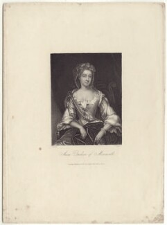 Anna Scott, Duchess of Monmouth and Duchess of Buccleuch, by William Henry Egleton, after  Sir Godfrey Kneller, Bt, published 1835 - NPG D30495 - © National Portrait Gallery, London