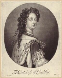 Barbara Palmer (née Villiers), Duchess of Cleveland, by Isaac Beckett, published by  John Smith, after  Sir Godfrey Kneller, Bt - NPG D30496