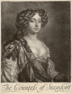 Elizabeth Grey (née Harvey), Countess of Stamford, published by Richard Tompson, after  Sir Peter Lely - NPG D9194