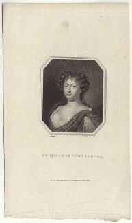 Louise de Kéroualle, Duchess of Portsmouth, by Edward Scriven, after  Samuel Cooper, published 1810 - NPG D30504 - © National Portrait Gallery, London
