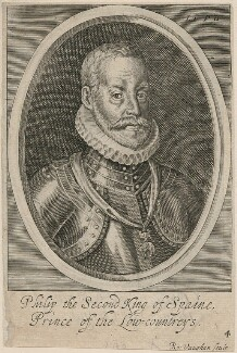 Philip II, King of Spain, by Robert Vaughan, after  Unknown artist, mid 17th century - NPG D32882 - © National Portrait Gallery, London
