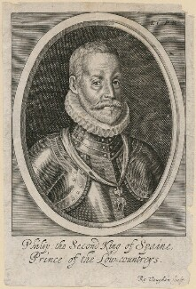 Philip II, King of Spain, by Robert Vaughan, after  Unknown artist, mid 17th century - NPG D32884 - © National Portrait Gallery, London