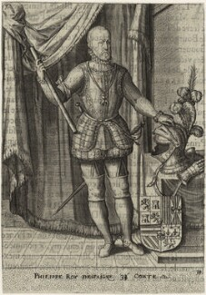 Philip II, King of Spain, after Unknown artist, published early 17th century - NPG D32887 - © National Portrait Gallery, London