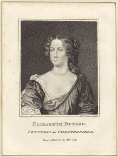 Elizabeth Stanhope (née Butler), Countess of Chesterfield, by William Nelson Gardiner, after  Sir Peter Lely - NPG D30527