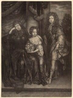 Elizabeth, Countess of Essex and her children, after Unknown artist - NPG D30528