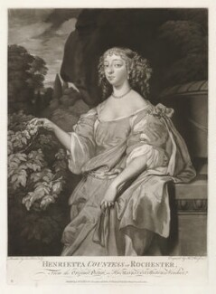 Henrietta Hyde (née Boyle), Countess of Rochester, by Thomas Watson, after  Sir Peter Lely - NPG D30533