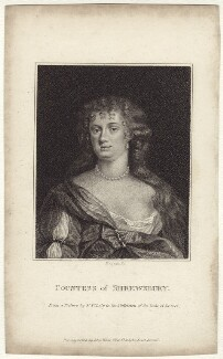 Anna Maria Talbot (née Brudenell), Countess of Shrewsbury, by E. Bocquet, after  Sir Peter Lely - NPG D30536