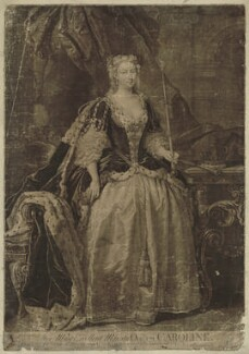Caroline Wilhelmina of Brandenburg-Ansbach, by John Faber Jr, after  John Vanderbank - NPG D32895