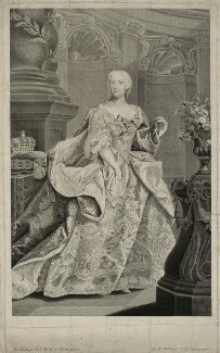 Probably Elizabeth Christine, Holy Roman Empress, by Gustav Adolph Müller, after  Johann Gottfried Auerbach - NPG D32896