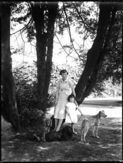 Hélène Candida Berry (née Hay), Viscountess Kemsley; Hon. Mary Anne van Raalte (née Berry), by Bassano Ltd - NPG x153103