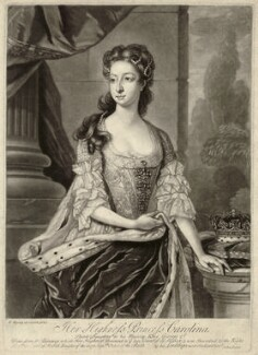 Princess Caroline Elizabeth, by John Faber Jr, after  Hans Hysing - NPG D32902