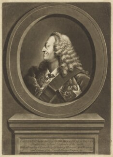 King George II, by Richard Houston, printed for and sold by  Robert Sayer, after  Thomas Worlidge, (circa 1753) - NPG D9202 - © National Portrait Gallery, London