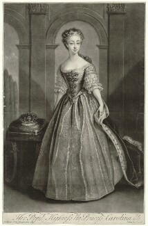 Princess Caroline Elizabeth, by and published by John Simon, after  Philip Mercier - NPG D32903