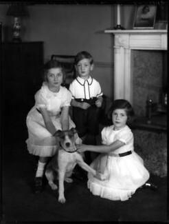 Brigid Louise Salmond (née Wright); Bryan Henry FitzHerbert Wright; Davinia Julia (née Wright), Lady Loch, by Bassano Ltd - NPG x153110