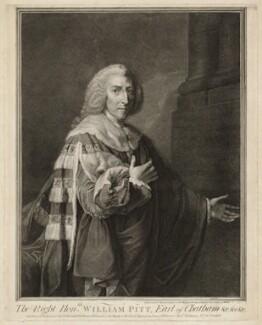 William Pitt, 1st Earl of Chatham, by John Keyse Sherwin, after  Richard Brompton - NPG D32904