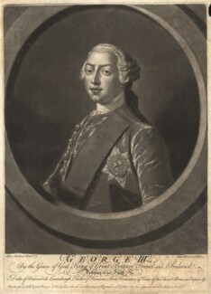 King George III, by Richard Houston, after  Henry Robert Morland, circa 1760 - NPG D9204 - © National Portrait Gallery, London
