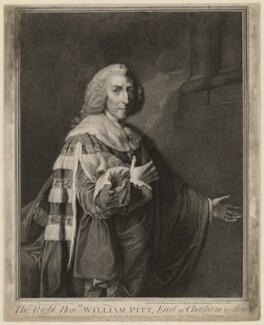 William Pitt, 1st Earl of Chatham, by John Keyse Sherwin, after  Richard Brompton - NPG D32905