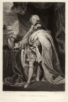 King George IV, by Samuel William Reynolds, after  Sir Joshua Reynolds - NPG D9208