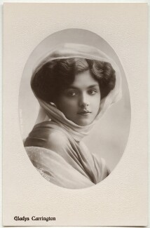 Gladys Carrington (Gladys Winifred Tancred, née Chandler), by Rita Martin, published by  Aristophot Co Ltd - NPG x131493