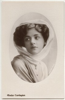 Gladys Carrington (Gladys Winifred Tancred, née Chandler), by Rita Martin, published by  Aristophot Co Ltd - NPG x131494