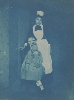 (Mary) Gladys Storey with a maid, by Unknown photographer, circa mid 1890s - NPG x32716 - © National Portrait Gallery, London