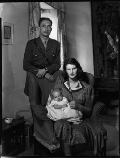 The Marquess and Marchioness of Reading with their son, by Bassano Ltd, 18 July 1942 - NPG x154273 - © National Portrait Gallery, London