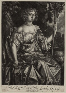 Catherine Grey (née Ford), Lady Grey of Warke, after Sir Peter Lely, published by  Alexander Browne - NPG D30549