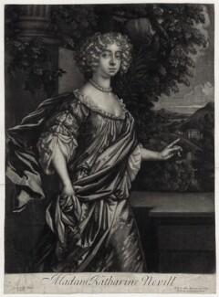 Katherine Neville (née Grey), after Sir Peter Lely, published by  Alexander Browne - NPG D30555